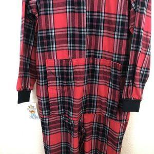Big Feet Pajama Co. Intimates & Sleepwear - Big Feet Pajama Unisex Red Flannel Footed Pajamas
